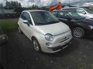 Used 2012 Fiat 500 Lounge for sale in St-Philibert, QC