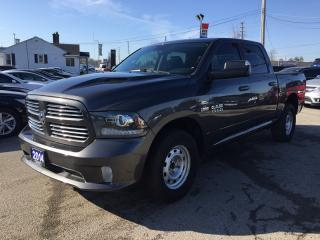 Used 2014 RAM 1500 SPORT * 4WD * LEATHER * REAR CAM * NAV * SUNROOF * HEATED/COOLED SEATS * BLUETOOTH for sale in London, ON