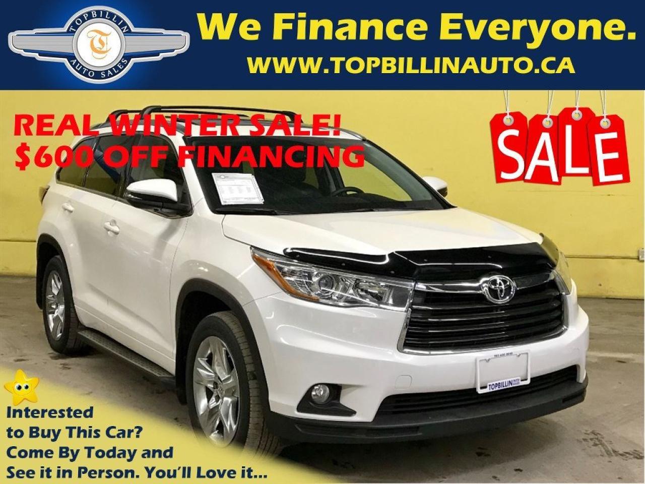 2014 Toyota Highlander Limited, 4 YEARS Premium Warranty, Fully Loaded