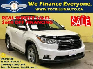 Used 2014 Toyota Highlander Limited, 4 YEARS Premium Warranty, Fully Loaded for sale in Concord, ON