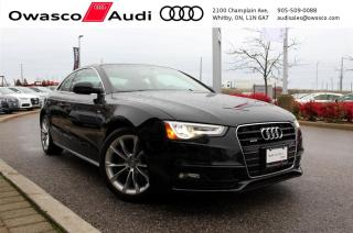 Used 2015 Audi A5 quattro + PARKING SYSTEM | LED DRL | SUNROOF for sale in Whitby, ON
