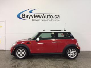 Used 2013 MINI Cooper - SUNROOF|PUSH BTN STRT|HTD LTHR|CRUISE|LOW KM'S! for sale in Belleville, ON