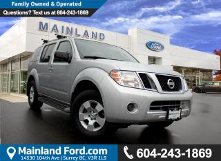 Used 2011 Nissan Pathfinder S BC VEHICLE for sale in Surrey, BC