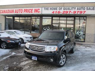 Used 2012 Honda Pilot EX-4WD-8 PASSENGER-CAMERA-HEATED-BLUETOOTH for sale in Scarborough, ON