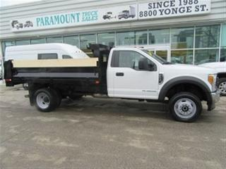 Used 2017 Ford F-550 4x4 diesel with 12 ft steel dump box 3 available for sale in Richmond Hill, ON