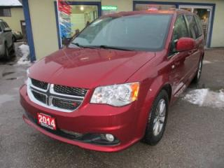 Used 2014 Dodge Grand Caravan 'HANDICAP ACCESSIBLE' LOADED SXT MODEL 4 PASSENGER 3.6L - V6.. CAPTAINS.. 'JOEY BY BRUNO' HYDRAULIC LIFT.. LEATHER TRIM.. POWER DOORS.. ECON-BOOST.. for sale in Bradford, ON