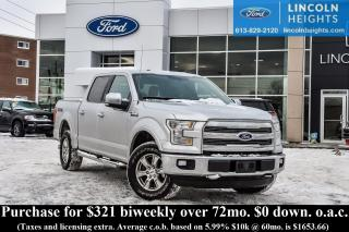 Used 2015 Ford F-150 LARIAT SUPERCREW 5.5' BED 4WD - LEATHER - BLUETOOTH - TRAILER TOW PKG - NAV for sale in Ottawa, ON