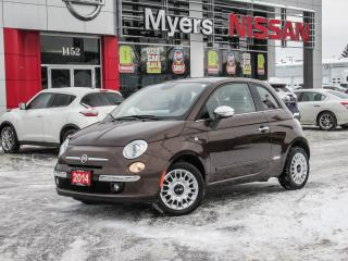 Used 2014 Fiat 500 LEATHER, SUNROOF, HEATED SEATS for sale in Orleans, ON