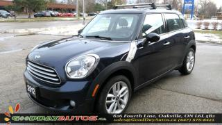 Used 2012 MINI Cooper Countryman LOW KM|NO ACCIDENT|PANORAMIC SUNROOF|ABS|CERTIFIED for sale in Oakville, ON