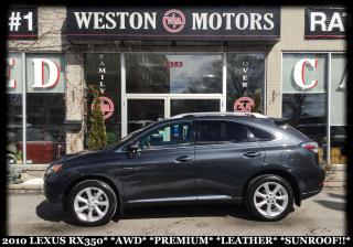 Used 2010 Lexus RX 350 AWD*PREMIUM*LEATHER*SUNROOF for sale in Toronto, ON