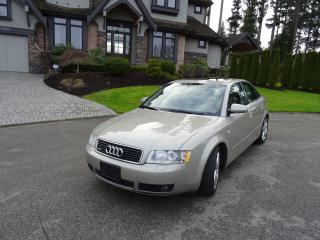 Used 2002 Audi A4 quattro + DOC FEE $ 195.00 for sale in Surrey, BC
