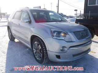 Used 2012 GMC ACADIA DENALI 4D UTILITY AWD for sale in Calgary, AB