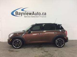 Used 2014 MINI Cooper Countryman S- AWD|6 SPD|SUNROOF|HTD STS|NAV|REV CAM! for sale in Belleville, ON