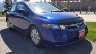 Used 2007 Honda Civic DX Sedan for sale in West Kelowna, BC
