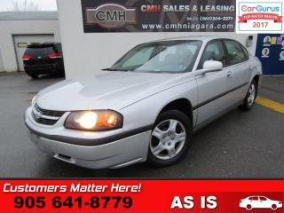 Used 2003 Chevrolet Impala for sale in St Catharines, ON