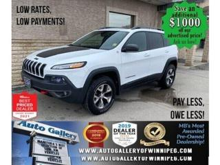 Used 2017 Jeep Cherokee Trailhawk* 4x4/Remote Start/BLUETOOTH/LOW KMS. for sale in Winnipeg, MB