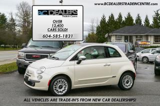 Used 2012 Fiat 500 Lounge Edition, Pano Roof, Leather, Low K, Clean! for sale in Surrey, BC