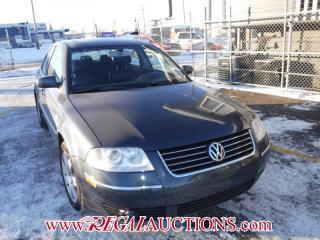 Used 2003 Volkswagen PASSAT GLX 4D SEDAN 4MOTION for sale in Calgary, AB