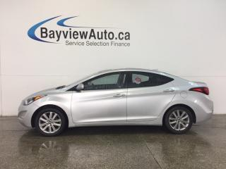 Used 2016 Hyundai Elantra SPORT- ALLOYS|SUNROOF|HTD STS|REV CAM|BLUETOOTH! for sale in Belleville, ON
