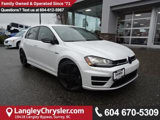 Used 2016 Volkswagen Golf R 2.0 TSI <b>*GPS*LANE ASSIST*1 OWNER*<b> for sale in Surrey, BC