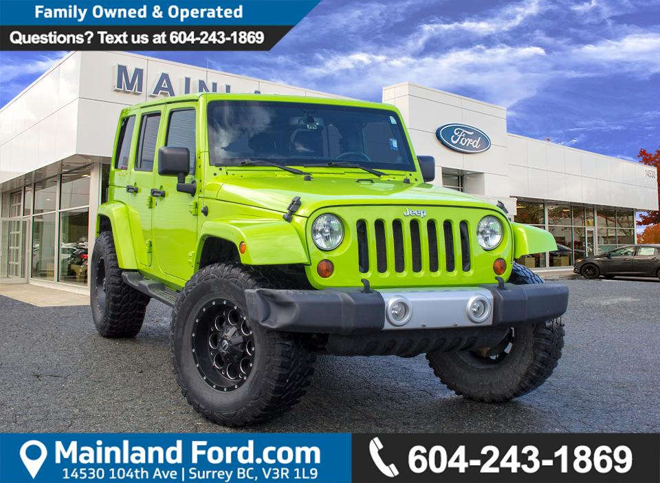 Used 2013 Jeep Wrangler Unlimited Sahara ***BC VEHICLE*** for Sale ...