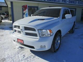 Used 2012 Dodge Ram 1500 WORK READY 'POWER EQUIPPED' 5 PASSENGER 5.7L - HEMI.. 4X4.. QUAD-CAB.. SHORTY.. LEATHER TRIM.. CD/AUX INPUT.. BLUETOOTH.. for sale in Bradford, ON