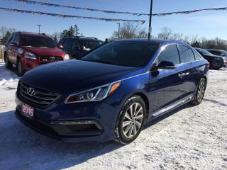 Used 2015 Hyundai SONATA SPORT PZEV * 1 OWNER * LEATHER/CLOTH * NAV * BACKUP CAM * PAN SUNROOF * TOUCH SCREEN * BLUETOOTH for sale in London, ON