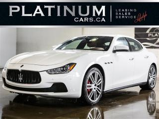 Used 2017 Maserati Ghibli S Q4 AWD, SPORT, NAVI, CAM, RED Lthr for sale in Toronto, ON