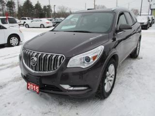 Used 2015 Buick Enclave LOADED PREMIUM EDITION 7 PASSENGER 3.6L - V6.. AWD.. CAPTAINS.. 3RD ROW.. LEATHER.. NAVIGATION.. BACK-UP CAMERA.. DUAL SUNROOF.. for sale in Bradford, ON