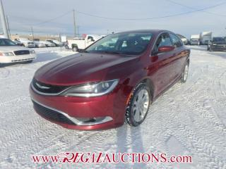 Used 2015 Chrysler 200 LIMITED 4D SEDAN 3.6L for sale in Calgary, AB