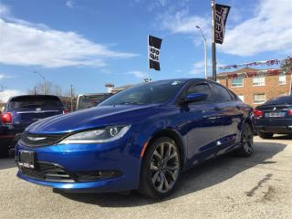 Used 2015 Chrysler 200 S**NAV**HTD SEATS/WHEEL**LEATHER** for sale in Mississauga, ON