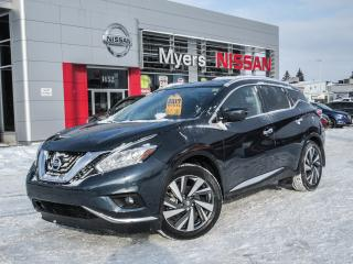 Used 2017 Nissan Murano PLAT, AWD, NAVIGATION, LEATHER, MOONROOF, BACK UP CAMERA for sale in Orleans, ON
