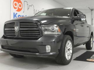 Used 2014 Dodge Ram 1500 Sport 5.7L 4x4 Hemi with power leather seats ready for whatever you need for sale in Edmonton, AB