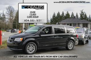 Used 2014 Dodge Grand Caravan SXT Stow-N-Go, 126,000km's, New Bodystyle, Clean! for sale in Surrey, BC