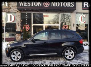 Used 2010 BMW X5 X5*AWD*CONSECUTIVE PKG*NAVI*NEW TIRES!!* for sale in York, ON