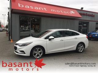 Used 2017 Chevrolet Cruze Premier, Remote Start, Heated Seats!! for sale in Surrey, BC