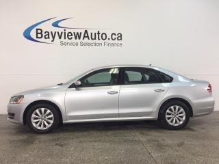 Used 2013 Volkswagen Passat TRENDLINE- 2.5L|ALLOYS|HTD STS|BLUETOOTH|CRUISE! for sale in Belleville, ON