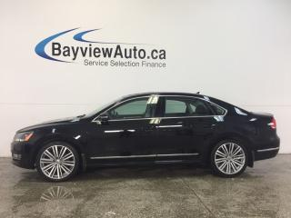 Used 2015 Volkswagen Passat COMFORTLINE- TDI|AUTO|ROOF|REV CAM|HTD LTHR|NAV! for sale in Belleville, ON