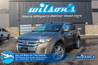 Used 2014 Ford Edge LIMITED! NAVI! REAR CAMERA!  LEATHER! BLINDSPOT MONITOR! HEATED SEATS!  POWER SEATS! PUSH START! for sale in Guelph, ON