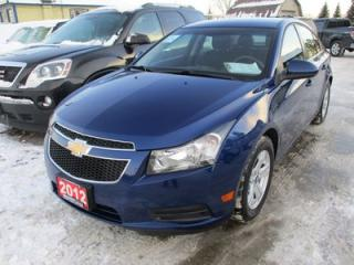 Used 2012 Chevrolet Cruze 'GREAT KM'S' POWER EQUIPPED LT MODEL 5 PASSENGER 1.4L - TURBO.. CD/AUX INPUT.. KEYLESS ENTRY.. for sale in Bradford, ON