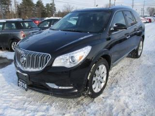 Used 2016 Buick Enclave LOADED PREMIUM EDITION 7 PASSENGER 3.6L - V6.. AWD.. CAPTAINS.. 3RD ROW.. LEATHER.. HEATED/AC SEATS.. NAVIGATION.. DUAL SUNROOF.. BACK-UP CAMERA.. for sale in Bradford, ON