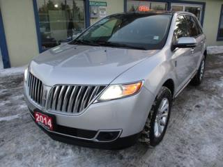 Used 2014 Lincoln MKX LOADED ALL-WHEEL DRIVE 5 PASSENGER 3.7L - V6.. LEATHER.. HEATED/AC SEATS.. NAVIGATION.. BLUETOOTH.. BACK-UP CAMERA.. DUAL SUNROOF.. for sale in Bradford, ON