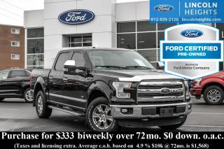 Used 2016 Ford F-150 LARIAT FX4 SUPERCREW 5.5' BED 4WD - LEATHER - NAV - MAX TRAILER TOW PKG for sale in Ottawa, ON