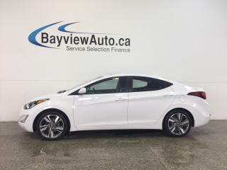 Used 2016 Hyundai Elantra - 6 SPEED|SUNROOF|HTD STS|REV CAM|BLUETOOTH! for sale in Belleville, ON