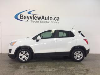 Used 2014 Chevrolet Trax - 6 SPEED|A/C|BLUETOOTH|ON STAR|CRUISE|PWR GROUP! for sale in Belleville, ON