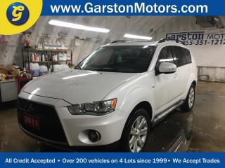 Used 2011 Mitsubishi Outlander GT S-AWC*NAVIGATION*POWER SUNROOF**LEATHER*REAR DVD PLAYER*7 PASSENGER*BACK UP CAMERA*PHONE CONNECT*ROCKFORD FOSGATE AUDIO w/BUILT IN SUBWOOFER*HEATED for sale in Cambridge, ON