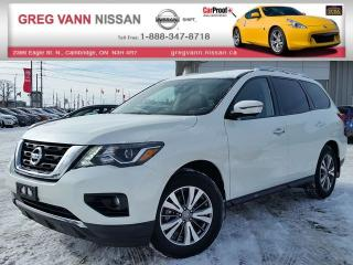 Used 2017 Nissan Pathfinder SL 4x4 w/all leather,lane assist,heater seats,climate control,rear cam,remote start for sale in Cambridge, ON