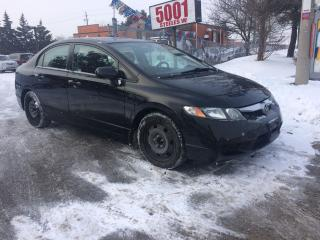 Used 2009 Honda Civic SUN ROOF,SNOW TIRES,SAFETY+3YEARS WARRANTY INCLUDE for sale in North York, ON