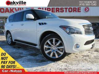 Used 2014 Infiniti QX80 TECH PACK | LEATHER | SUNROOF | DUAL DVD | AWD|NAV for sale in Oakville, ON