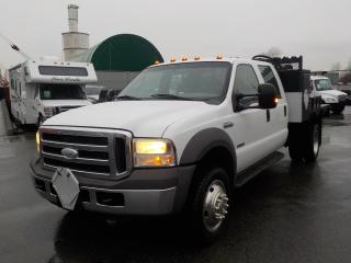 Used 2005 Ford F-550 Crew Cab 4WD DRW Flat Deck with External Fuel Pump for sale in Burnaby, BC